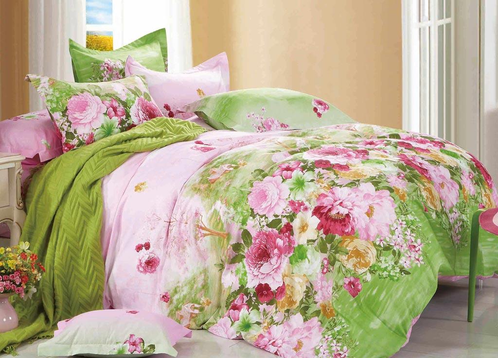 Комплект белья Primavera Classic Поле, семейный, наволочки 70x70, цвет: розовый-зеленый87894Роскошный комплект постельного белья Primavera Classic выполнен из качественного плотного сатина и украшен оригинальным рисунком. Комплект состоит из двух пододеяльников, простыни и двух наволочек. Сатин - это ткань из 100% натурального хлопка. Мягкость и нежность материала создает чувство комфорта и защищенности. Классический натуральный природный материал делает это постельное белье нежным, элегантным и приятным. Приобретая комплект постельного белья Primavera Classic, вы можете быть уверены в том, что покупка доставит вам и вашим близким удовольствие и подарит максимальный комфорт.