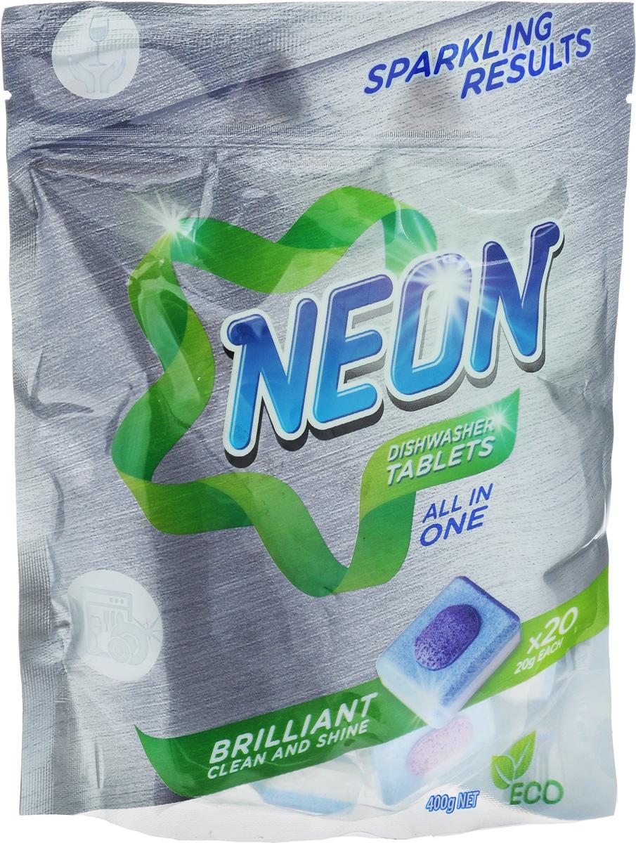"Таблетки для посудомоечных машин Neon ""Dishwasher Tablets. All in ONE"", 20 шт 12030"