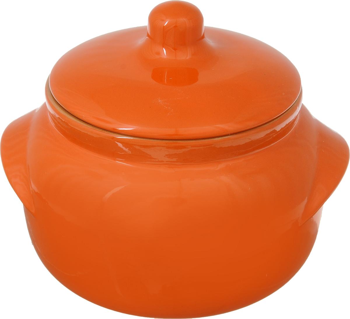 Горшочек для запекания Борисовская керамика Новарусса, цвет: оранжевый, 500 млРАД14457746Горшочек для запекания Борисовская керамика Новарусса выполнен из высококачественной керамики. Внутренняя и внешняя поверхность покрыты глазурью. Керамика абсолютно безопасна, поэтому изделие придется по вкусу любителям здоровой и полезной пищи. Горшок для запекания с крышкой очень вместителен и имеет удобную форму. . Посуда жаропрочная. Можно использовать в духовке и микроволновой печи. Диаметр горшочка (по верхнему краю): 10 см. Высота (без учета крышки): 19 см.