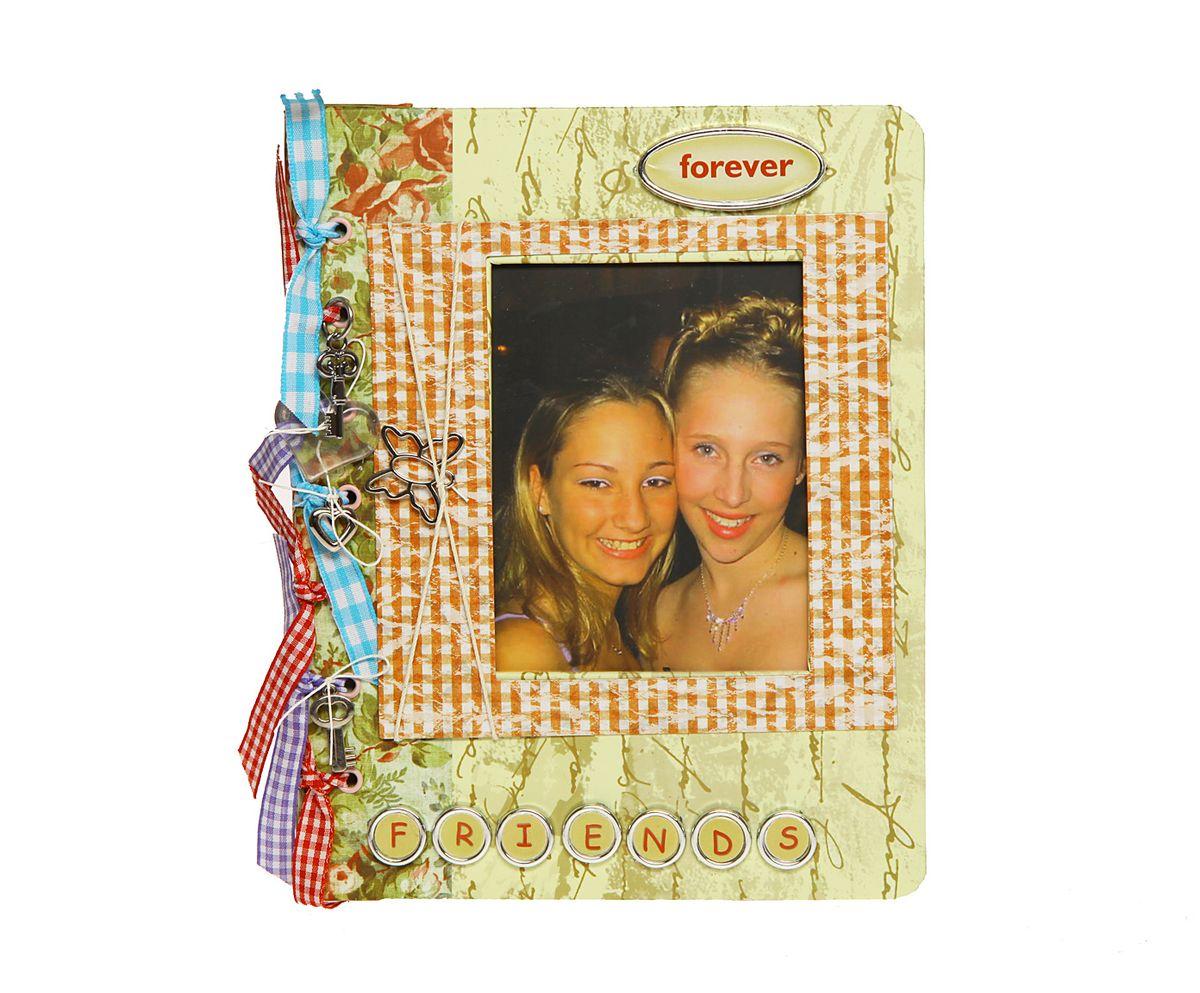 Фотоальбом HomeMaster Друзья, цвет: мультиколор, 60 фото, 21 х 17 х 4 смJX-L021Фотоальбом (ДРУЗЬЯ) выполнен в модном направлении SCRAPBOOK. Профессиональные декораторы создают настоящий шедевр вручную украшая альбом и создавая объемный декор. На внутренних страницах, есть возможность делать памятные записи. 60 фото 10x15см.