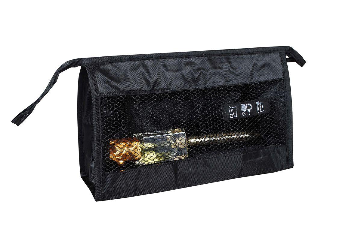 Сумка для косметики HomeMaster, цвет: черный, 26 х 15 х 9 смSO309Компактный и вместительный органайзер. Самый лучший друг для девушек, которые любят носить все в свой сумке. Если вы счастливая обладательница нескольких сумок, то органайзер вам необходим. Вы легко сможете переместить его из одной сумки в другую и при этом ничего не забыть. Также органайзер очень полезен для сумок с 1 отделением, он создает дополнительные кармашки и отделы.