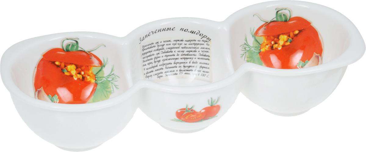 Форма для запекания LarangE Запеченные помидоры, 26 х 10 х 5,8 см598-091Форма для запекания LarangE Запеченные помидоры изготовлена из жаропрочной керамики, покрытой глазурью. Керамическая посуда обладает уникальными свойствами. Она обеспечивает быстрый нагрев и долгое сохранение температуры. Эти качества позволяют придать особый аромат продуктам, сохранить витамины и микроэлементы, которые часто разрушаются при нагревании. Кроме этого, керамическая посуда не выделяет химических примесей в процессе приготовления, что, безусловно, положительно скажется на вашем здоровье и самочувствии. Предназначена для запекания перца, помидор и многого другого. В комплект входит брошюра с рецептами. Допускается использование в микроволновой печи, духовке и холодильнике. Размер формы (по верхнему краю): 26 х 10 см. Высота стенки: 5,8 см.