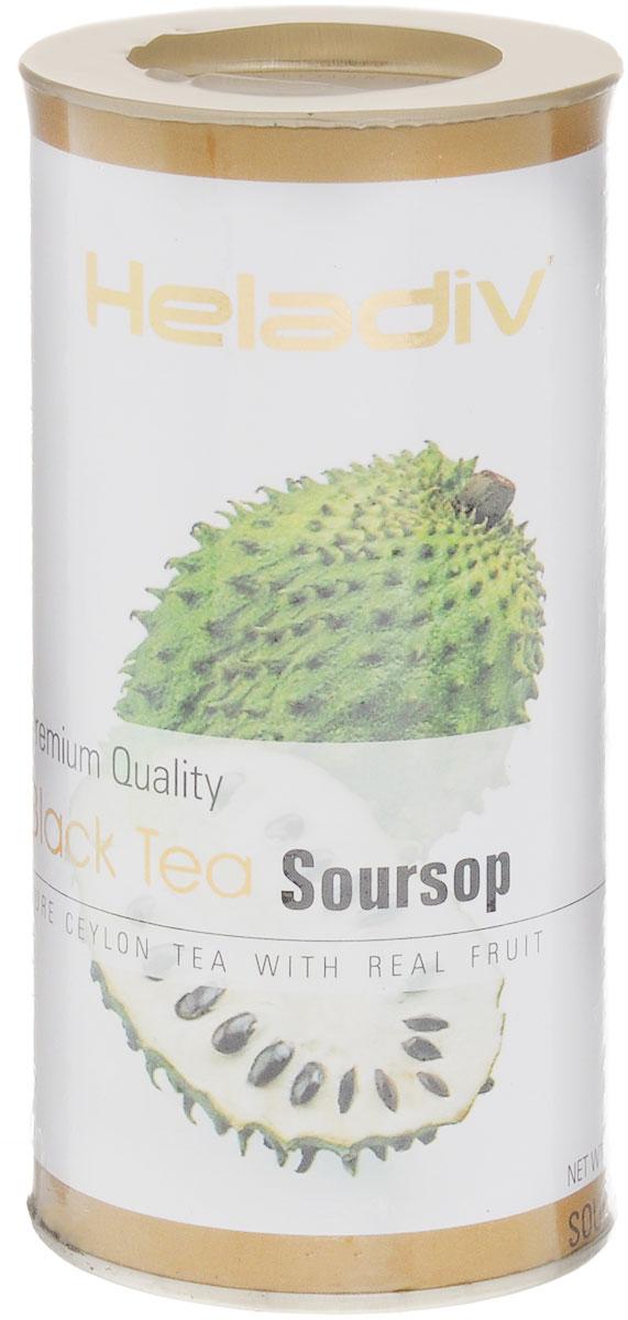 Heladiv Black Soursop чай черный листовой с саусепом, 100 г4791007009405Heladiv Black Soursop - это сочетание элитного черного цейлонского чая с насыщенным ароматом и кусочками саусепа. Подарит неповторимые ощущения и заряд бодрости.
