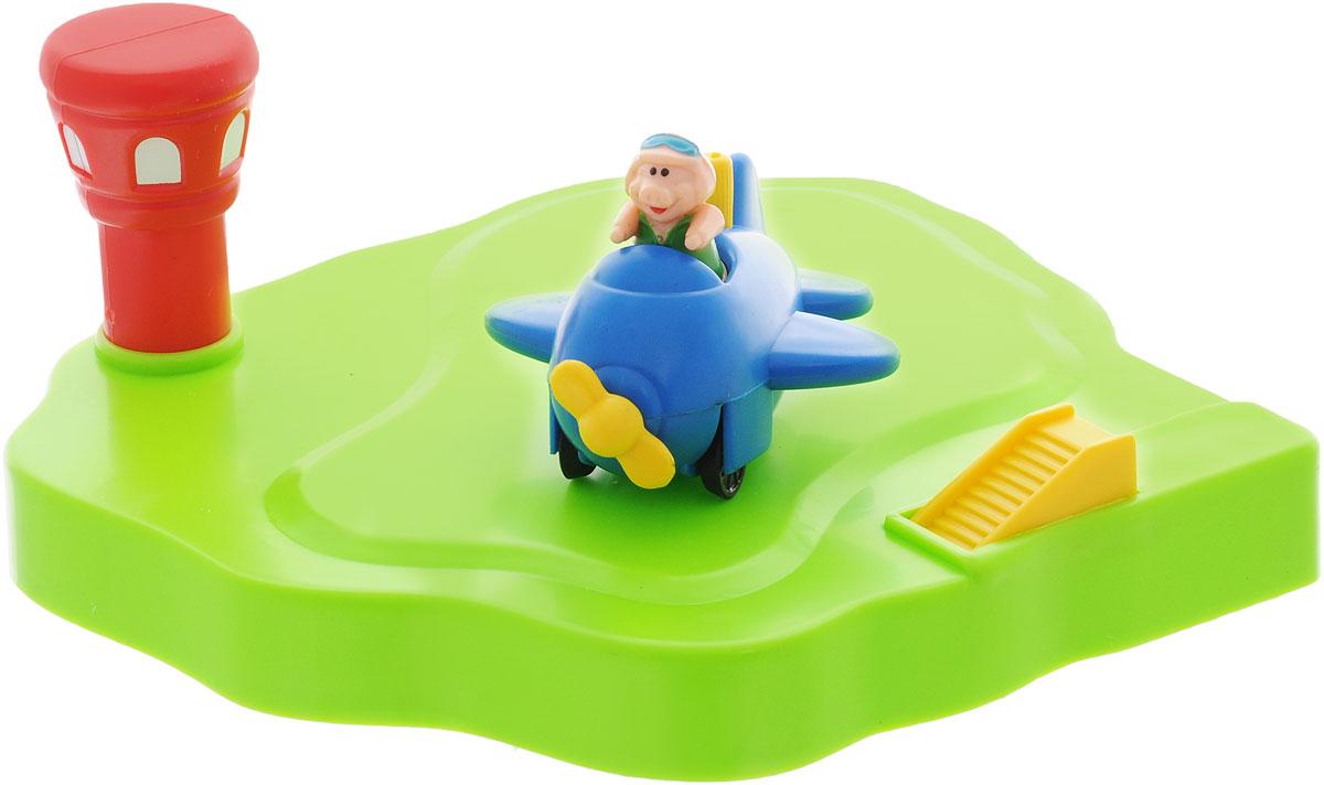 Жирафики Игрушка для ванной Аэродром цвет самолета синий681123_синий самолетИгрушка для ванной Жирафики Аэродром обязательно порадует вашего малыша и превратит купание в увлекательную игру. Игрушка ярких цветов выполнена из качественных материалов и абсолютно безопасна для малышей. Аэродром с маяком держится на воде, поэтому самолетик может легко на него приземлиться. Самолетик с пилотом оснащен заводным механизмом и может самостоятельно кататься по ровной поверхности. Игрушка способствует развитию внимания, координации движений и логического мышления.