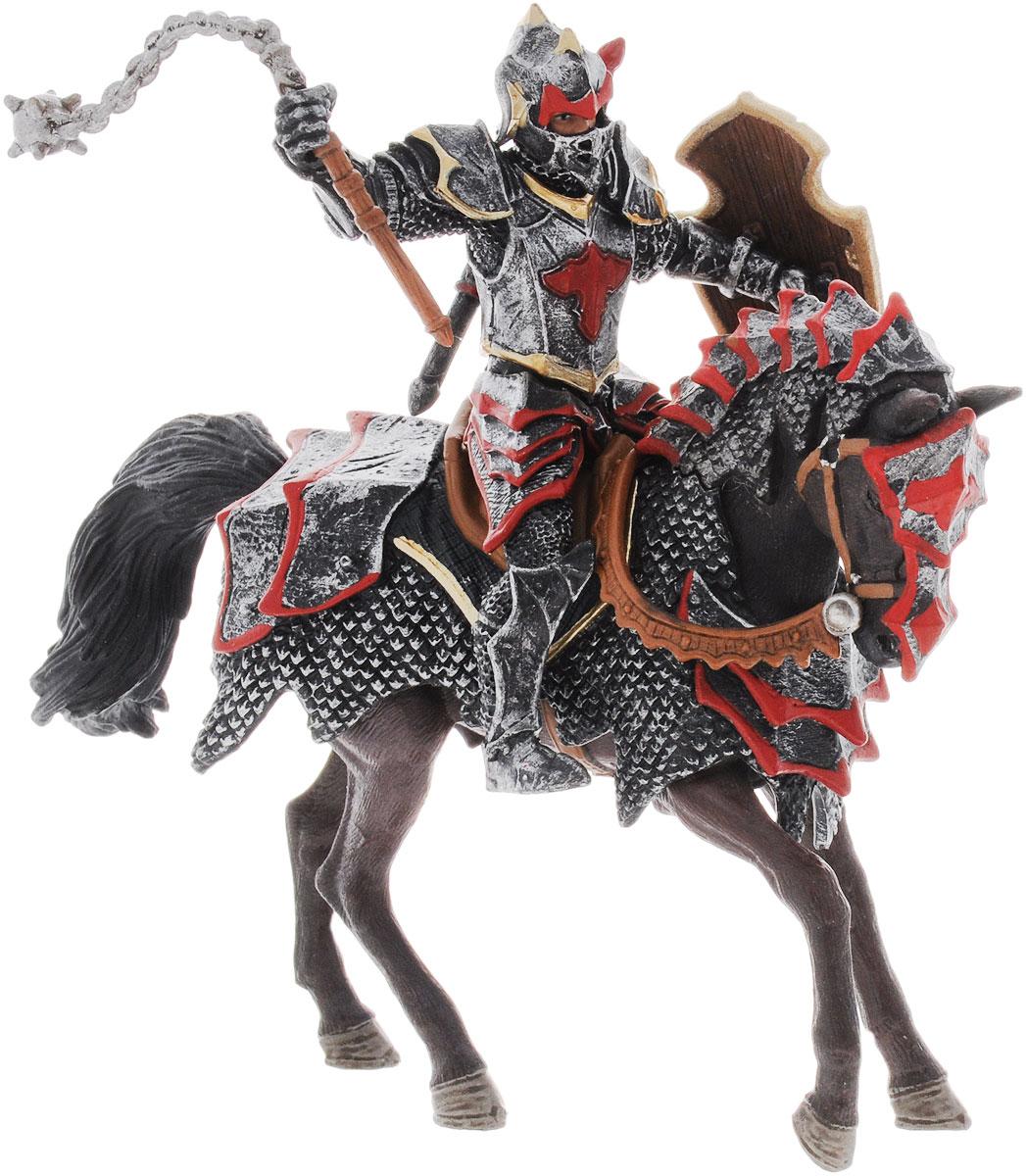 Schleich Фигурка Рыцарь Ордена Дракона на коне70101Фигурка Schleich Рыцарь Орден Дракона на коне станет прекрасным подарком для вашего ребенка. Она выполнена из каучукового пластика. Детали фигурки четкие и максимально детализированы, что привлечет внимание ребенка, который с огромным удовольствием будет играть с ней в ролевые игры. Фигурка разъемная и ваш ребенок может играть отдельно как с рыцарем, так и с лошадью. Всадник надежно крепится к лошади с помощью магнитов, встроенных в фигурки. Цеп подвижен в руке. Такая фигурка непременно понравится вашему ребенку и станет замечательным украшением любой коллекции. Рыцарь Утренняя звезда - грозное оружие Ордена Дракона. Всадник вооружен мощной цепом и щитом, на нем прочные доспехи. Рыцарь и его боевой конь не проиграли ни одну битву! Рыцарь Утренняя звезда известен далеко за пределами своей страны, его боевые заслуги признают даже самые заклятые враги.