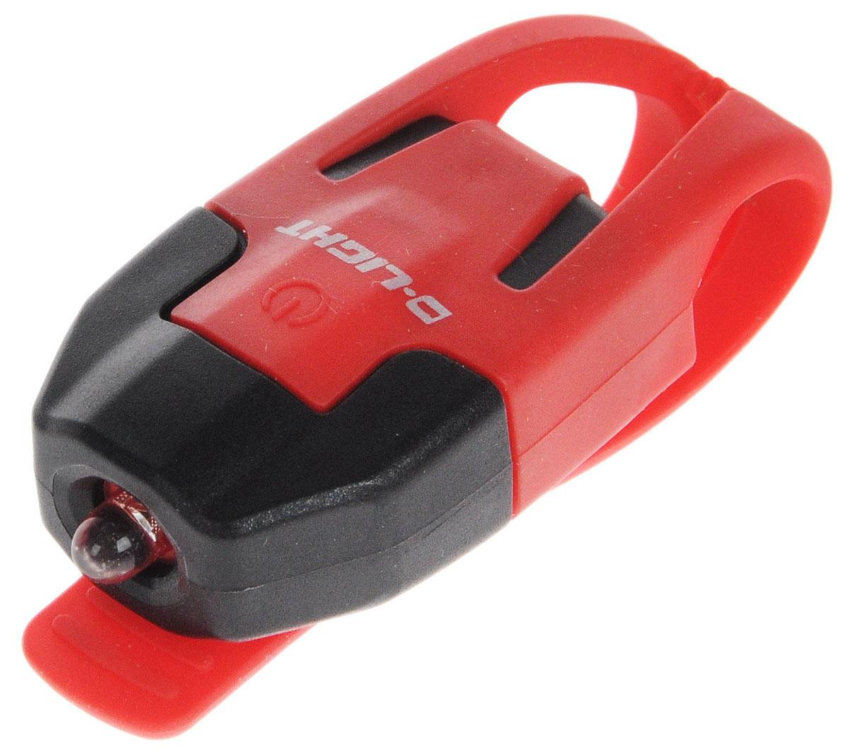 Фонарь велосипедный D-Light CG-210R, габаритный, задний, цвет: красный, черныйCG-210R-BK+RDЗадний габаритный велофонарь с рассеянным светом D-Light CG-210R предназначен для обеспечения большей безопасности при поездках в темное время суток. Он легко крепится и снимается без дополнительных инструментов на основу диаметром 18-32 мм. Корпус изделия выполнен из прочного пластика. Фонарь имеет 2 режима: мигание и постоянное свечение. Изделие водонепроницаемо. Фонарь питается от 1 батареи типа CR2032 (входит в комплект). Время свечения: 45 ч. Время мигания: 85 ч. Размер фонаря (без учета крепления): 4 х 2,5 х 1,3 см.