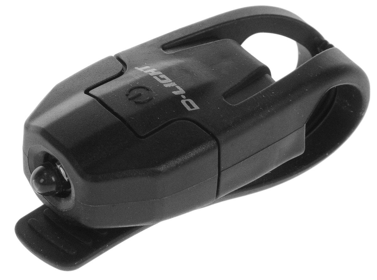 Фонарь велосипедный D-Light CG-210W, габаритный, передний, цвет: черныйCG-210W-BK+BKЗадний габаритный велофонарь с рассеянным светом D-Light CG-210W предназначен для обеспечения большей безопасности при поездках в темное время суток. Он легко крепится и снимается без дополнительных инструментов на основу диаметром 18-32 мм. Корпус изделия выполнен из прочного пластика. Фонарь имеет 2 режима: мигание и постоянное свечение. Изделие водонепроницаемо. Фонарь питается от 1 батареи типа CR2032 (входит в комплект). Время свечения: 70 ч. Время мигания: 40 ч. Размер фонаря (без учета крепления): 4 х 2,5 х 1,3 см.