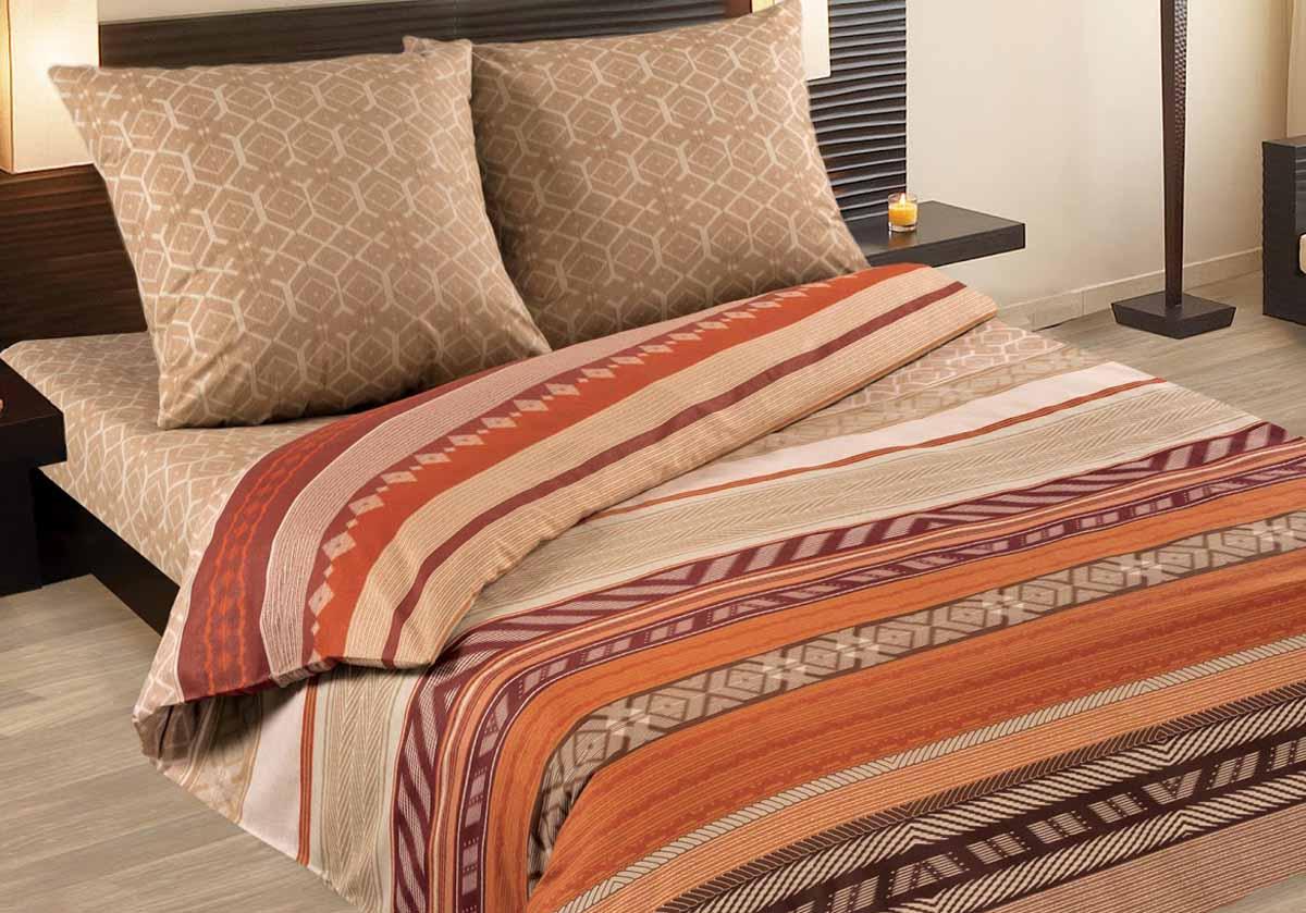 Комплект белья Wenge Dakar, 2-спальный, наволочки 70x70, цвет: коричневый237529