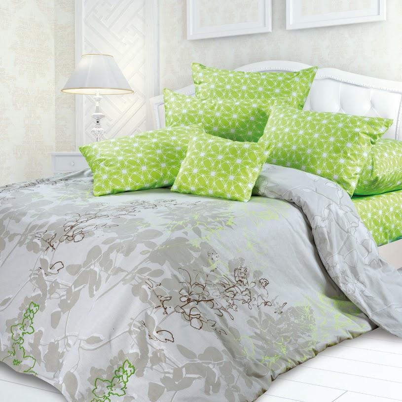 Комплект белья Унисон Милена, евро, наволочки 70x70, цвет: зеленый239715