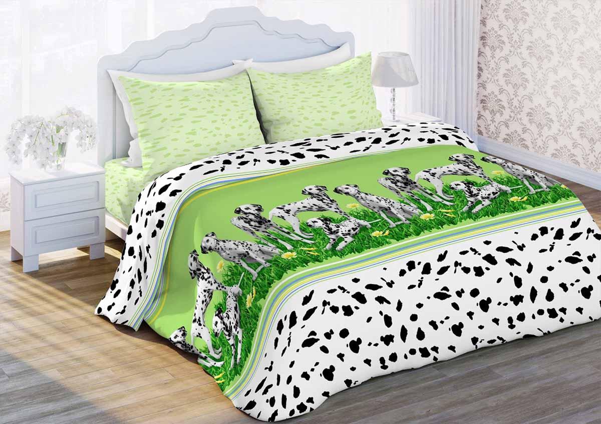 Комплект белья Любимый дом Далматинцы, 2-спальный, наволочки 70x70336666Комплект постельного белья коллекции Любимый дом выполнен из высококачественной ткани - из 100% хлопка. Такое белье абсолютно натуральное, гипоаллергенное, соответствует строжайшим экологическим нормам безопасности, комфортное, дышащее, не нарушает естественные процессы терморегуляции, прочное, не линяет, не деформируется и не теряет своих красок даже после многочисленных стирок, а также отличается хорошей износостойкостью.