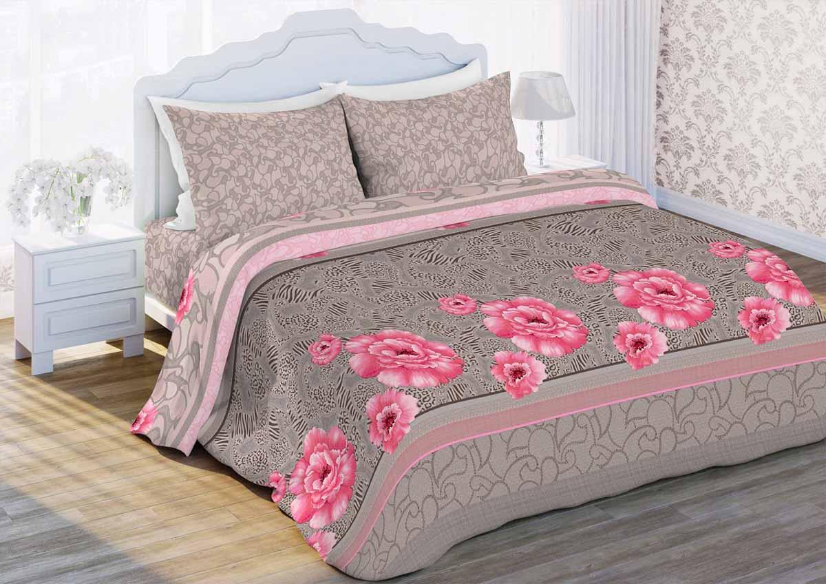 Комплект белья Любимый дом Лоретто, 2-спальный, наволочки 70x70, цвет: серый336668
