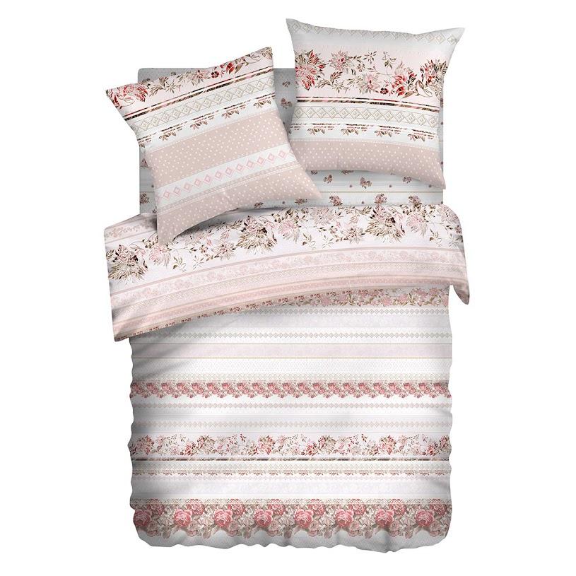 Комплект белья Романтика Славы Зайцева Визави, 1,5-спальный, наволочки 70x70, цвет: белый338998