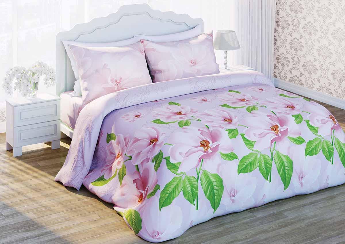 Комплект белья Любимый дом Магнолия жемчужная, 2-спальный, наволочки 50x70351202Комплект постельного белья коллекции Любимый дом выполнен из высококачественной ткани - из 100% хлопка. Такое белье абсолютно натуральное, гипоаллергенное, соответствует строжайшим экологическим нормам безопасности, комфортное, дышащее, не нарушает естественные процессы терморегуляции, прочное, не линяет, не деформируется и не теряет своих красок даже после многочисленных стирок, а также отличается хорошей износостойкостью.