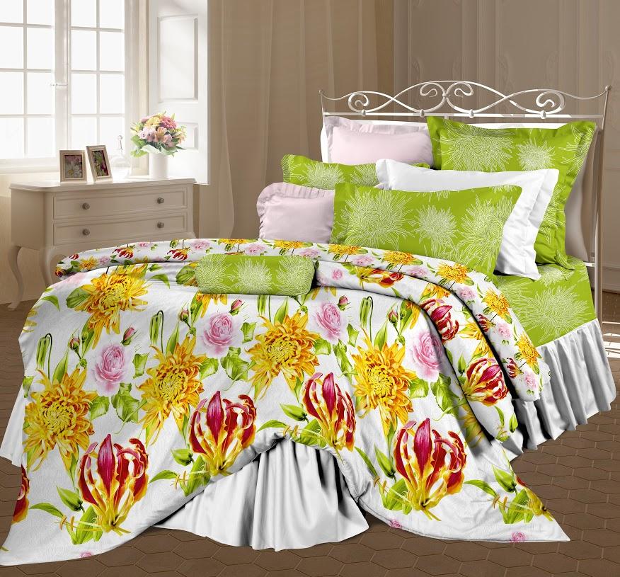Комплект белья Романтика Эдем, 2-спальный, наволочки 70x70, цвет: зеленый353418