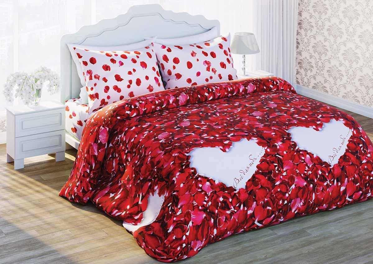 Комплект белья Любимый дом Лепестки роз, 2-спальный, наволочки 50x70357450Комплект постельного белья коллекции Любимый дом выполнен из высококачественной ткани - из 100% хлопка. Такое белье абсолютно натуральное, гипоаллергенное, соответствует строжайшим экологическим нормам безопасности, комфортное, дышащее, не нарушает естественные процессы терморегуляции, прочное, не линяет, не деформируется и не теряет своих красок даже после многочисленных стирок, а также отличается хорошей износостойкостью.