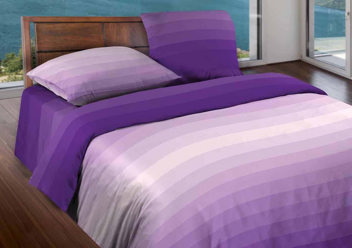 Комплект белья Wenge Flow, 1,5-спальный, наволочки 50x70, цвет: сиреневый361815