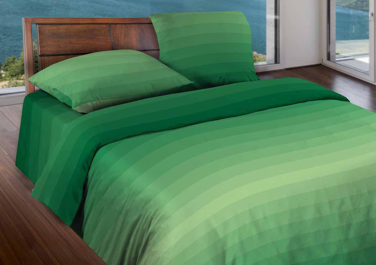Комплект белья Wenge Flow, 1,5-спальный, наволочки 50x70, цвет: зеленый361818