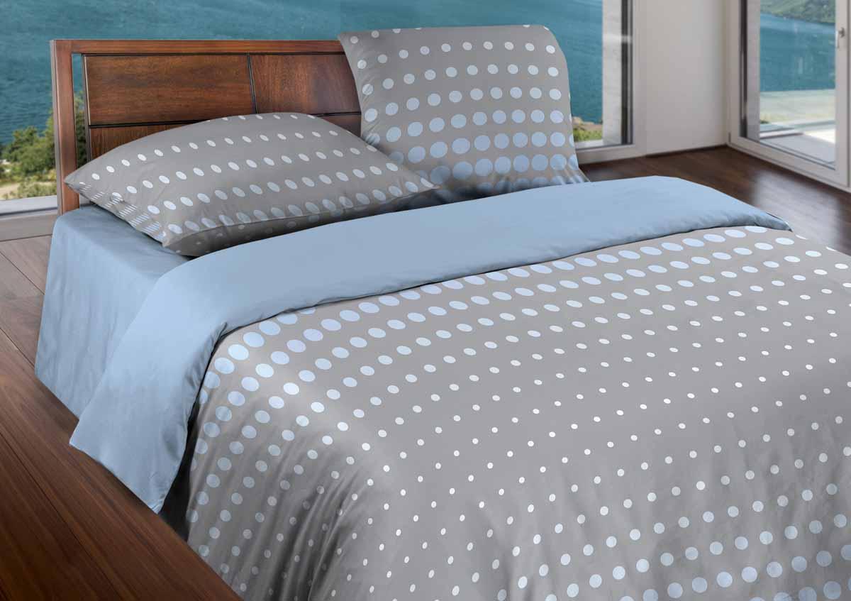 Комплект белья Wenge Dot Grey, 1,5-спальный, наволочки 70x70, цвет: синий361822