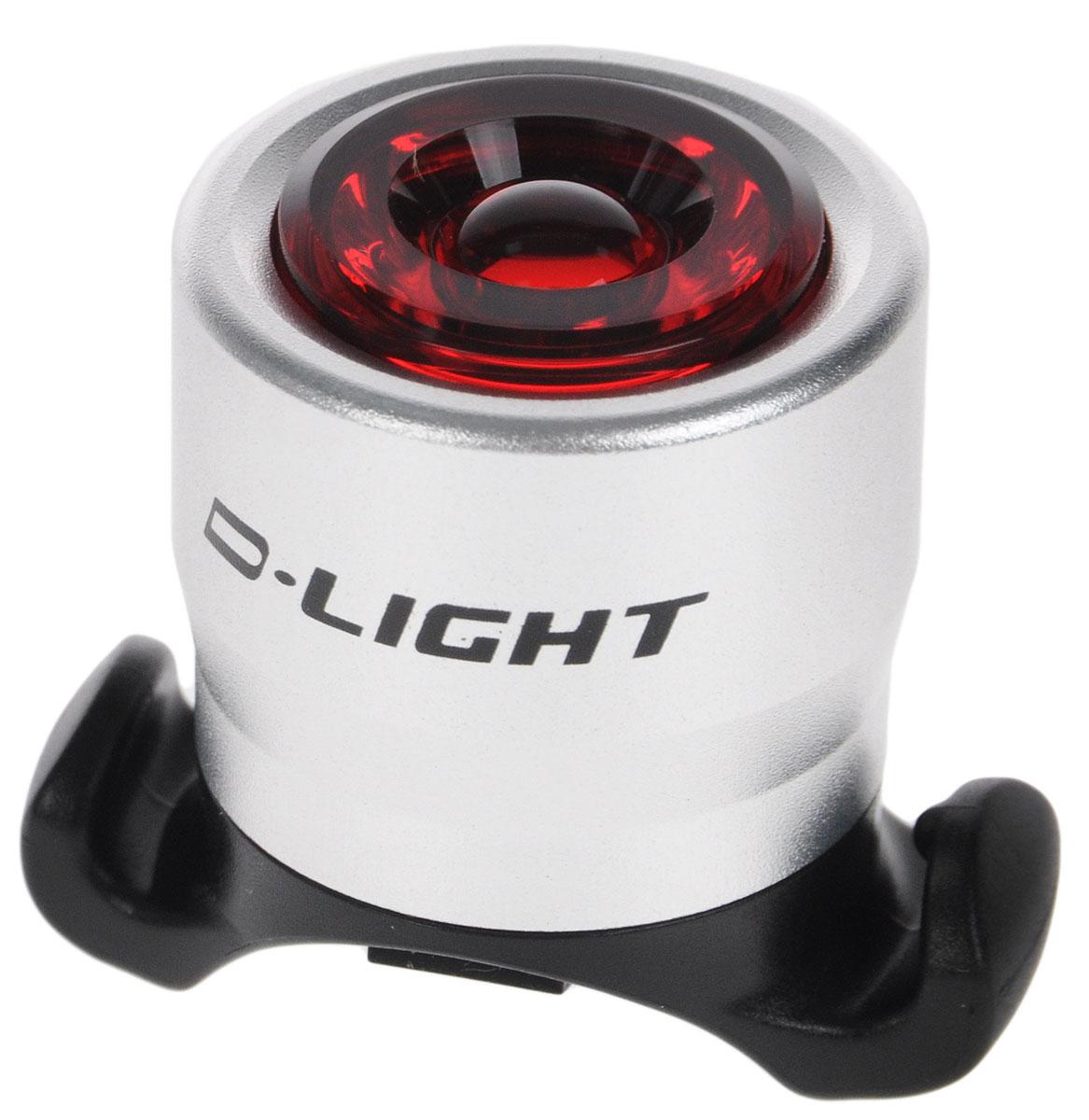 Фонарь велосипедный D-Light CG-212R, габаритный, передний, цвет: серебристый, красный, черныйCG-212R-SilverПередний габаритный велофонарь D-Light CG-212R предназначен для обеспечения большей безопасности при поездках в темное время суток. Он легко крепится и снимается без дополнительных инструментов. Корпус изделия выполнен из прочного алюминия. Фонарь имеет 2 режима: мигание и постоянное свечение. Он водонепроницаем, имеет один SMD красный светодиод. Фонарь питается от 2 батарей типа CR2032 (входят в комплект). Время свечения: 60 ч. Время мигания: 120 ч. Диаметр фонаря: 2,7 см. Высота фонаря: 3,5 см.
