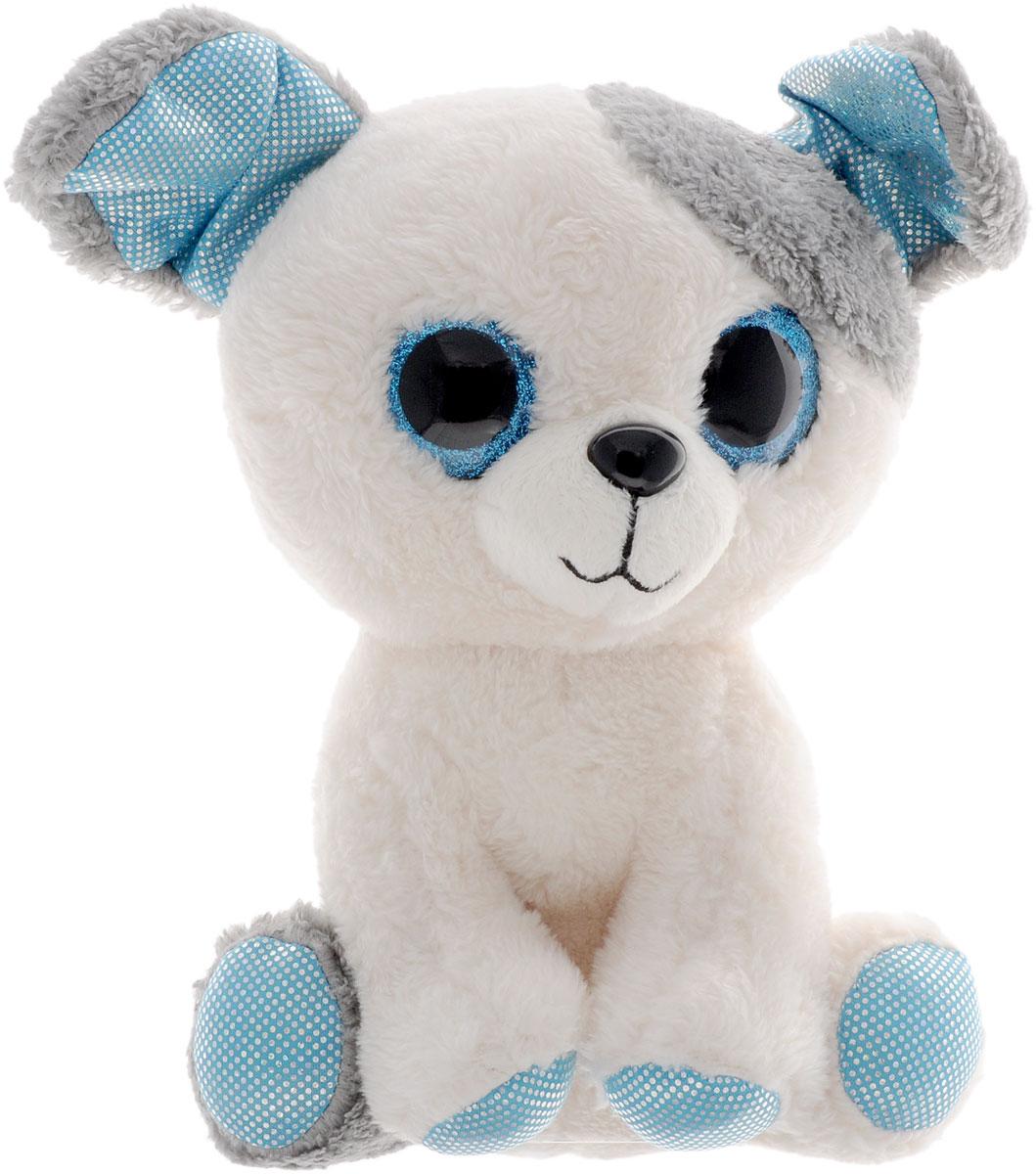 Fancy Мягкая игрушка Собачка Глазастик 22 смSBB0Мягкая игрушка Собачка Глазастик вызовет умиление и улыбку у каждого, кто ее увидит. Игрушка выполнена в виде симпатичного щеночка белого цвета с серыми ушками и блестящими голубыми вставками. У Собачки большие пластиковые глазки и милый черный носик. Игрушка изготовлена из мягкого, приятного на ощупь искусственного меха и текстиля с наполнителем из гипоаллергенного полиэфирного волокна. Удивительно мягкая игрушка принесет радость и подарит своему обладателю мгновения нежных объятий и приятных воспоминаний. Великолепное качество исполнения делают эту игрушку чудесным подарком к любому празднику.