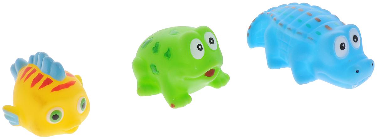 ABtoys Набор игрушек для ванной Веселое купание 3 шт PT-00331PT-00331С набором игрушек для ванной ABtoys Веселое купание принимать водные процедуры станет еще веселее и приятнее. В набор входят три игрушки - рыбка, лягушка и крокодил. Игрушки имеют яркие цвета. Набор доставит ребенку большое удовольствие и поможет преодолеть страх перед купанием. Игрушки для ванной способствуют развитию воображения, цветового восприятия, тактильных ощущений и мелкой моторики рук.