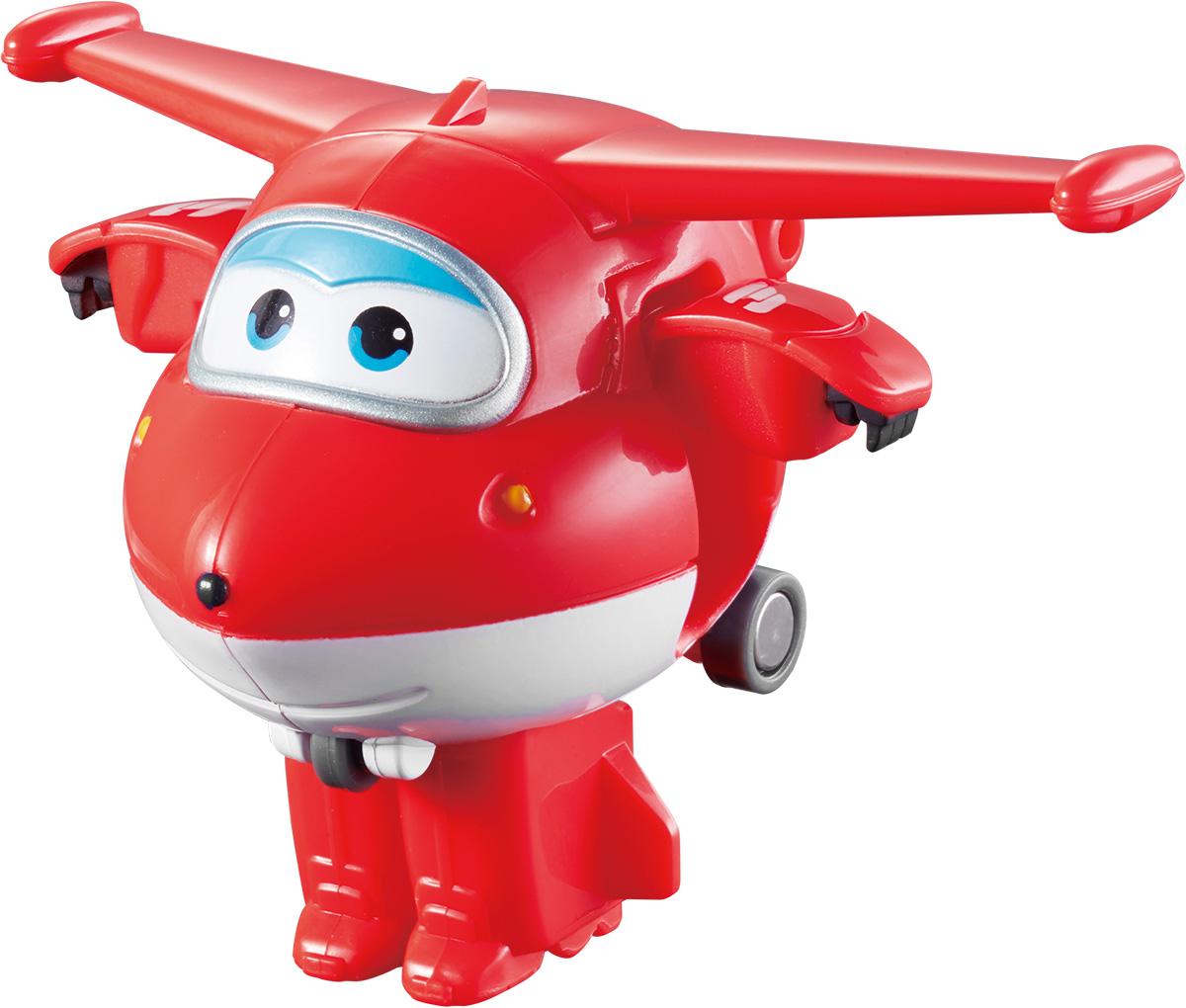 Super Wings Трансформер Джетт YW710010YW710010Супер Крылья (Super Wings) - дружная команда самолетов из многосерийного обучающего мультфильма. Для детей они - настоящие друзья, которые придут на помощь, когда бы они ни понадобились! Джетт доставляет долгожданные посылки мальчикам и девочкам по всему земному шару, знакомя детей с особенностями и традициями страны куда делает доставку. В разных странах ему помогают друзья: Донни, Диззи, Пол и Мира и другие. Отважные герои учат ребят находить решения для непростых задач: от лепки китайских пельменей до спасения людей от извержения гавайского вулкана. Трансформер Super Wings Джетт полностью повторяет персонажа популярного мультфильма. Ребенок сможет с легкостью превратить самолет в робота и обратно! Шасси игрушки свободно вращаются, двери трансформируются в руки, а ноги робота легко выдвигаются из хвостовой части и убираются обратно. При помощи игрушек-трансформеров дети развивают любознательность, пространственное мышление, логику и мелкую моторику,...