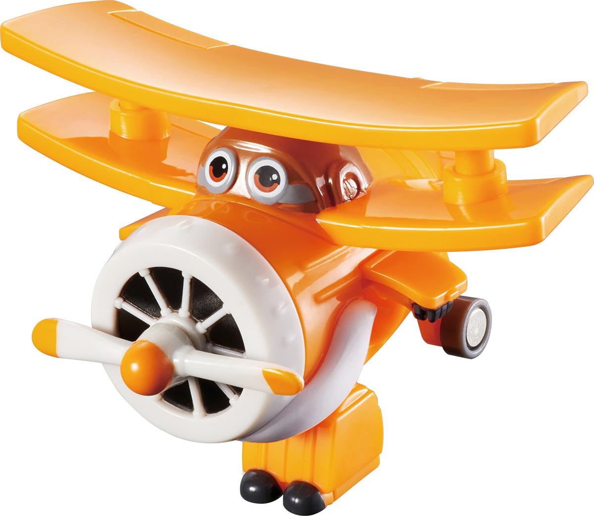 Super Wings Трансформер АльбертYW710060Игрушка-трансформер Альберт надолго займет внимание вашего ребенка. Игрушка выполнена из безопасного пластика в виде самолета по имени Альберт, полностью повторяющего персонажа популярного мультсериала «Super Wings». Ваш ребёнок сможет всего за 3 шага превратить вертолёт в робота и обратно. Альберт-старый, мудрый, и всегда готов давать советы. Шасси у вертолетика свободно вращаются, пропеллер крутиться, двери трансформируются в руки, а ноги биплана легко выдвигаются из хвостовой части и убираются обратно. Эта игрушка непременно понравится вашему малышу, ведь она развивает любознательность, пространственное мышление, логику и мелкую моторику рук.
