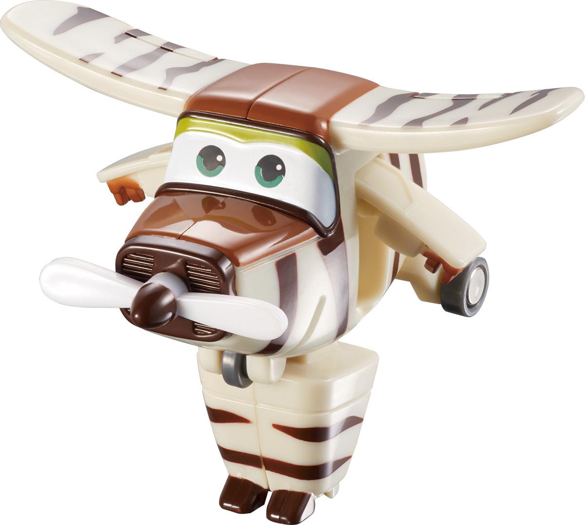 Super Wings Трансформер Бэлло YW710070YW710070Игрушка-трансформер Бэлло надолго займет внимание вашего ребенка. Игрушка выполнена из безопасного пластика в виде самолета по имени Бэлло, полностью повторяющего персонажа популярного мультсериала «Super Wings». Ваш ребёнок сможет всего за 3 шага превратить самолет в робота и обратно. Сафари-самолёт Бэлло понимает абсолютно все языки животных и птиц. Когда между ребятами и зверятами нет согласия, Бэлло всегда поможет договориться. Шасси самолетика свободно вращаются, двери трансформируются в руки, а ноги самолёта для сафари легко выдвигаются из хвостовой части и убираются обратно. Эта игрушка непременно понравится вашему малышу, ведь она развивает любознательность, пространственное мышление, логику и мелкую моторику рук.