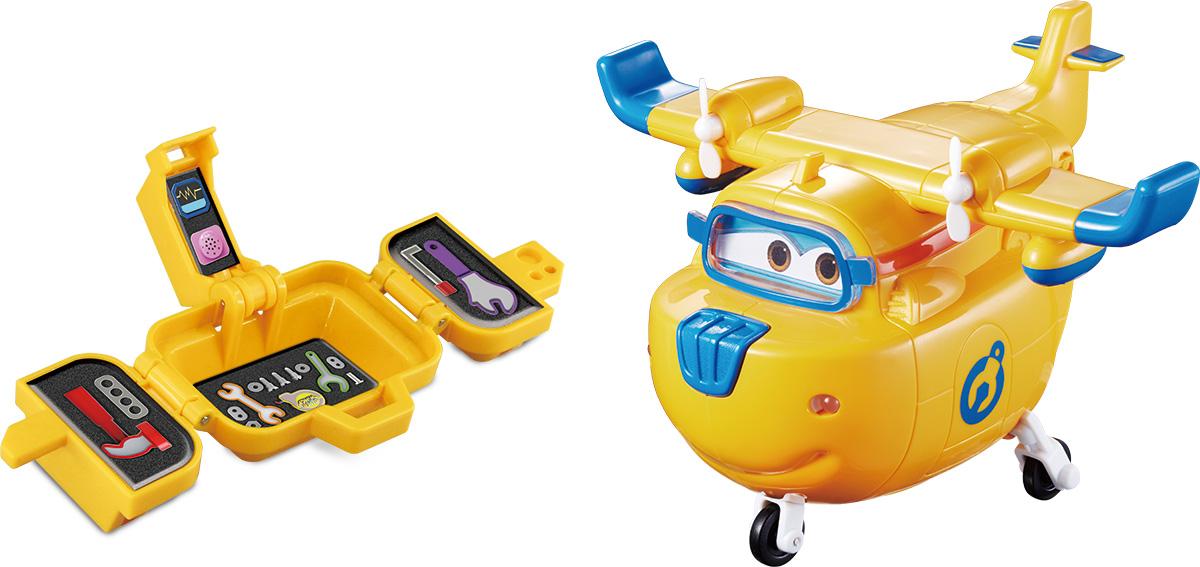 Super Wings Интерактивная игрушка Донни с чемоданчикомYW710420Веселая игрушка и надежный друг - неунывающий Донни. Донни комментирует каждое изменение направления полета во время игры. Попробуй сделать мёртвую петлю!