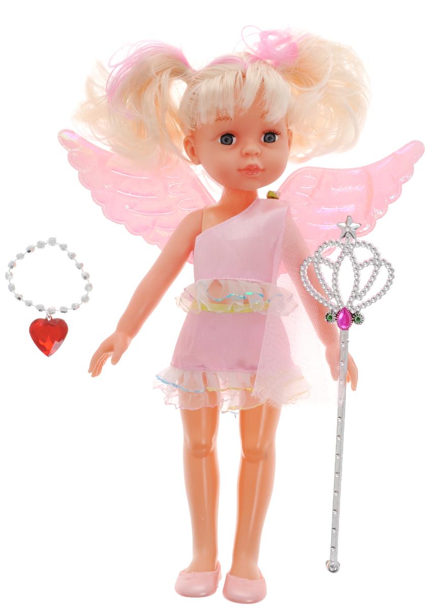 ABtoys Кукла ФеяPT-00374Великолепная кукла ABtoys Фея обязательно порадует вашу малышку и доставит ей много удовольствия от часов, посвященных игре с ней. Куколка одета в великолепный наряд нежно-розового цвета. Светлые волосы куклы заплетены в два хвоста. Ножки, ручки и голова куколки подвижны. Вместе с куклой в набор входят волшебная палочка и ожерелье. Выразительный внешний вид и аккуратное исполнение куклы делает ее идеальным подарком для любой девочки. Кукла-фея станет настоящей подружкой для своей юной обладательницы! Порадуйте свою малышку таким великолепным подарком!