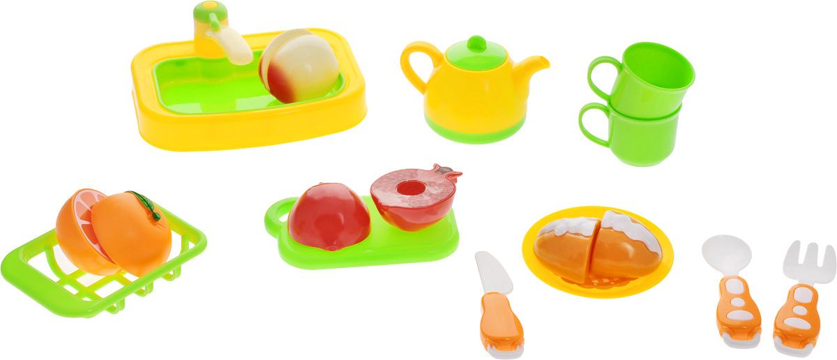 ABtoys Игрушечный набор Моя кухняPT-00364Игрушечный набор ABtoys Моя кухня способствует ознакомлению с различными видами фруктов, овощей и столовых приборов. Формируется усидчивость, мелкая моторика пальцев рук и концентрация внимания. С помощью данного набора ребенок сможет изучить цвета, формы и различные виды продуктов, получит навыки резки продуктов на части, при помощи пластикового ножа. Игра способствует тренировке внимания и памяти. Все предметы набора выполнены из качественных и безопасных материалов.