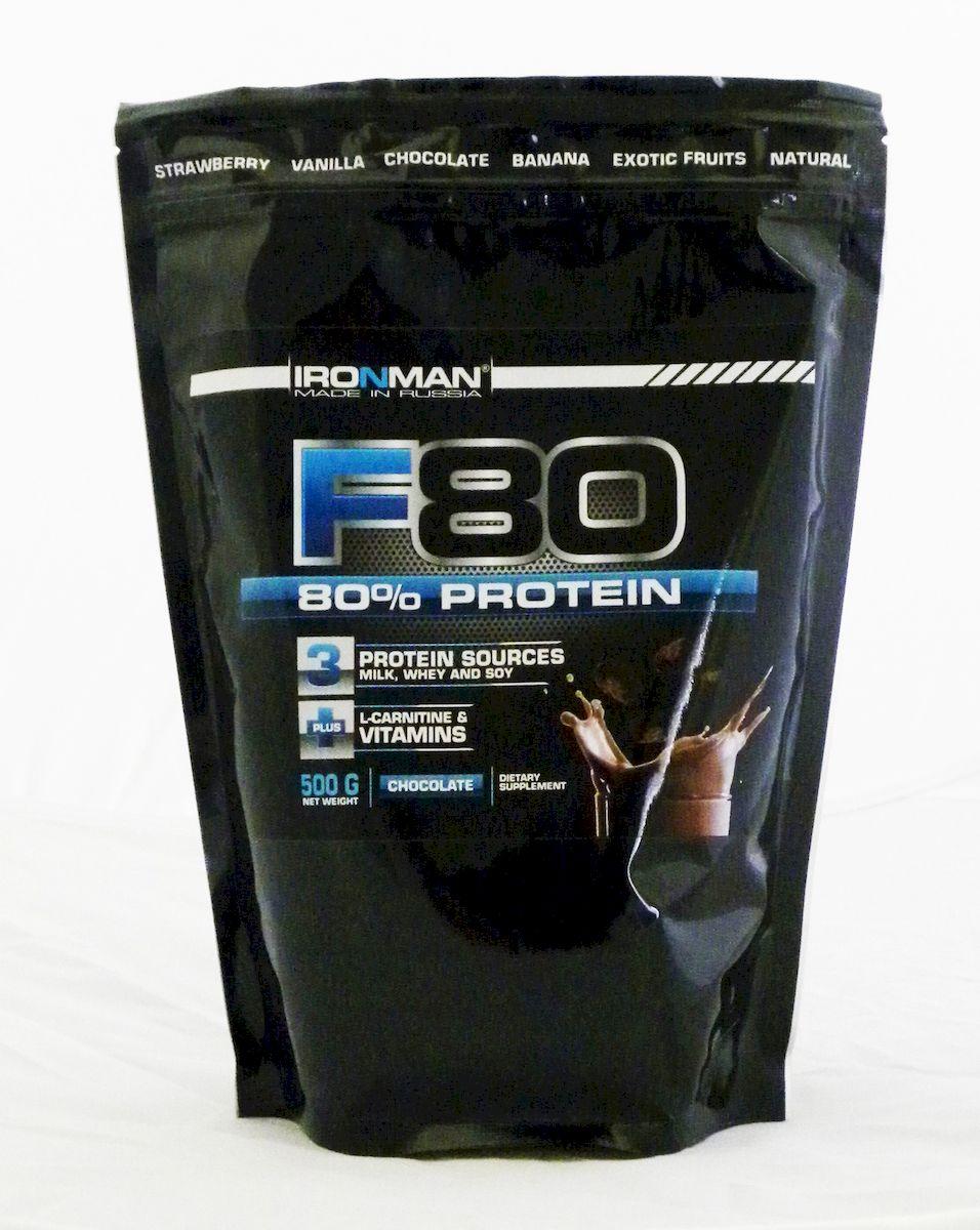 Ironman Формула 80, 500 г, шоколад4607062758885Концентрированный протеиновый напиток, содержащий 80% высококачественных белков. Обогащен L-карнитином и витаминамиЧетырехкомпонентный белок формулы представлен белками молока (казеинатами кальция и натрия, лактальбумином, лактоглобулином), белым яичным альбумином и белком сои. Взятые в специальном соотношении, эти белки обеспечивают наиболее высокую биологическую ценность продукта и оптимальный аминокислотный профиль, который на 20% представлен разветвленными аминокислотами.Кроме того, этот протеиновый напиток обогащен 10 витаминами, содержит 800 мг L-карнитина в упаковке, а также Ca и Mg для эффективного восстановления нервной системы после тренировки и укрепления костей F80 содержит все необходимое для эффективного формирования мускулатуры.Чтобы активно тренирующемуся атлету рассчитать дневную потребность в белке в граммах, необходимо умножить собственный вес в килограммах на 2-2,5. До 50% дневной потребности в белке Вы можете обеспечить с помощью данной высококонцентрированной...
