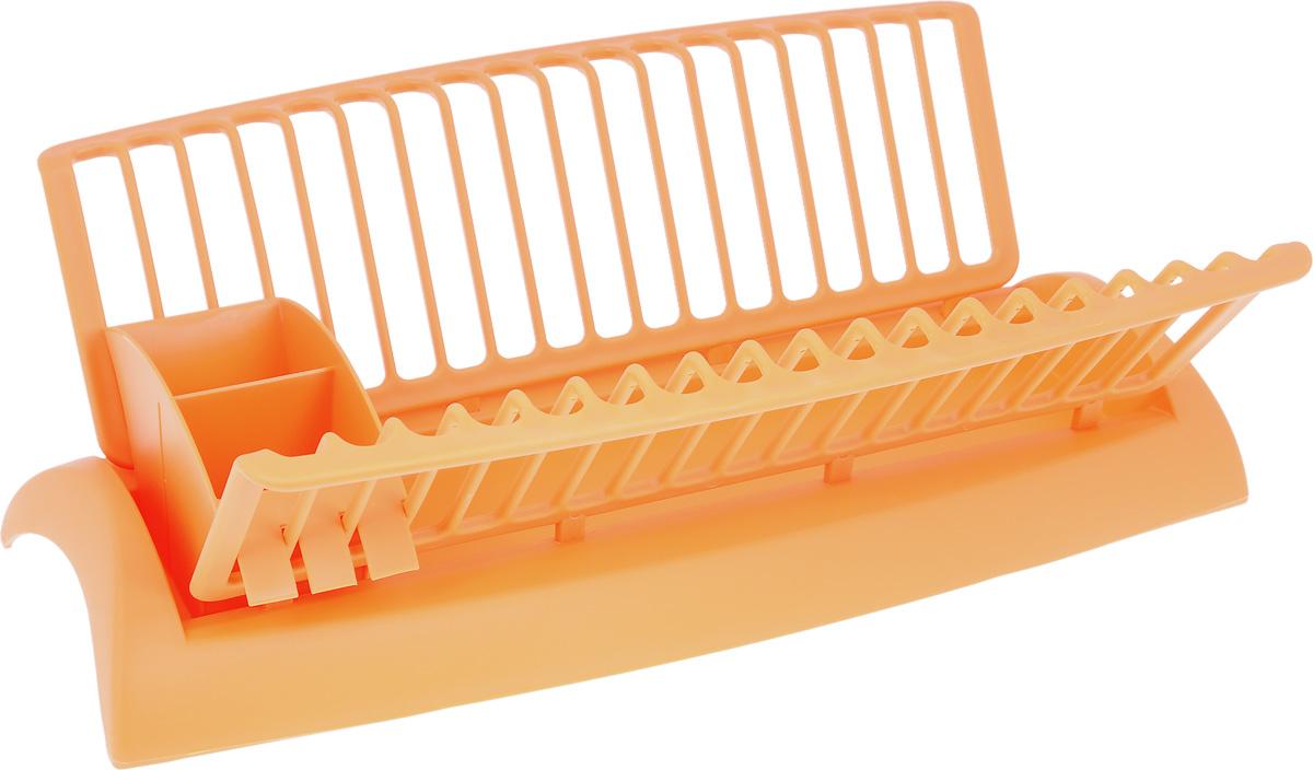 Сушилка для посуды Mayer & Boch, с поддоном, цвет: оранжевый, 46 х 25 х 14 см23238_оранжевыйСушилка Mayer & Boch, изготовленная из высококачественного полипропилена, представляет собой решетку с ячейками для посуды и подставки для столовых приборов. Изделие оснащено поддоном для стекания воды. Сушилка Mayer & Boch не займет много места на вашей кухне. Вы сможете разместить на ней большое количество предметов. Компактные размеры и оригинальный дизайн выделяют эту сушилку из ряда подобных. Размер сушилки: 46 х 25 х 14 см. Размер поддона: 46 х 18 х 6 см. Размер секции для приборов: 18 х 6,5 х 8,5 см.