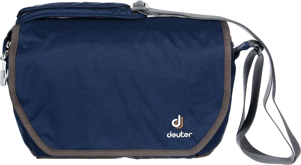 Сумка Deuter Carry out, цвет: светло-голубой, коричневый, 8л85013_1600Прекрасная, обновленная, городская сумка. Эта сумка имеет высокие возможности стать вашим лучшим другом.Сумка представляет собой защитный чехол, закрывающийся на молнию, с невероятным количеством отделений и множеством систем их закрытия. два вместительных основных отделения с тремя перегородками. Имеется аккуратный съемный мешок, внутренний карман, закрывающийся на молнию, фронтальный отсек со съемным отделением, маленький кармашек для телефона, задний карман, закрывающийся на молнию, эластичный, регулируемый ремень на плечо, материал Deuter-Super-Polytex Deuter-Ripstop 330, вес 500 грамм, объем 8 литров, размер 24 х34 х 13 cm