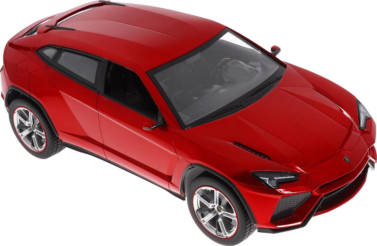 Rastar Радиоуправляемая модель Lamborghini Urus цвет красный73000Радиоуправляемая модель Rastar Lamborghini Urus станет отличным подарком любому мальчику! Все дети хотят иметь в наборе своих игрушек ослепительные, невероятные и модные автомобили на радиоуправлении. Тем более, если это автомобиль известной марки с проработкой всех деталей, удивляющий приятным качеством и видом. Одной из таких моделей является автомобиль на радиоуправлении Rastar Lamborghini Urus. Это точная копия настоящего авто в масштабе 1:14. Авто обладает неповторимым провокационным стилем и спортивным характером. Потрясающая маневренность, динамика и покладистость - отличительные качества этой модели. Возможные движения: вперед, назад, вправо, влево, остановка. При движении загораются фары и стоп-сигналы. Для работы игрушки необходимы 5 батареек типа АА напряжением 1,5V (не входят в комплект). Для работы пульта управления необходима 1 батарейка 9V типа Крона (не входит в комплект).