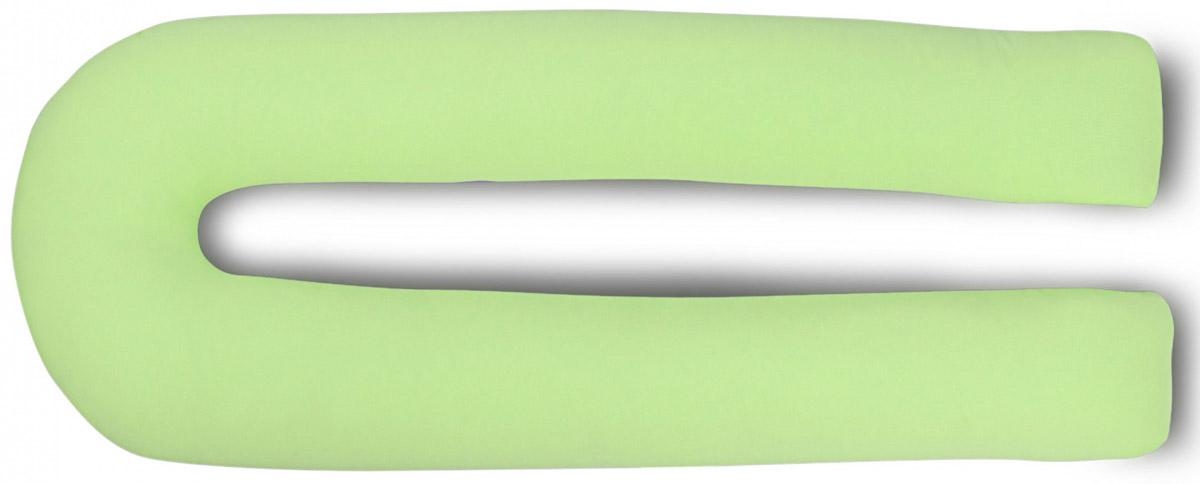 БИО-Подушка для беременных U maxi Бамбук, чехол салатовыйРBU340KБио-подушка для беременных U maxi бамбук в чехле из джерси (хлопок 100%) содержит наполнитель из микроволокна (искусственный лебяжий пух) с добавлением натурального бамбукового волокна. Такое сочетание материалов гарантирует подушке особенную мягкость, воздушность, легкость. Она удобна для сна, отдыха и кормления малыша. Удлиненные ножки позволят комфортно разместиться женщине любого роста, в ширину же подушка, наоборот, сделана максимально компактной (60 см) и занимает минимум места на кровати. Округлые и симметричные формы создают гармонию и уют. Мягкий гипоаллергенный наполнитель отлично держит форму. Бамбуковое волокно обеспечивает подушке антибактериальные свойства, не допуская размножения бактерий. Чехол из хлопка нежного салатового цвета легко одевается и снимается, не мнется, прост в уходе.