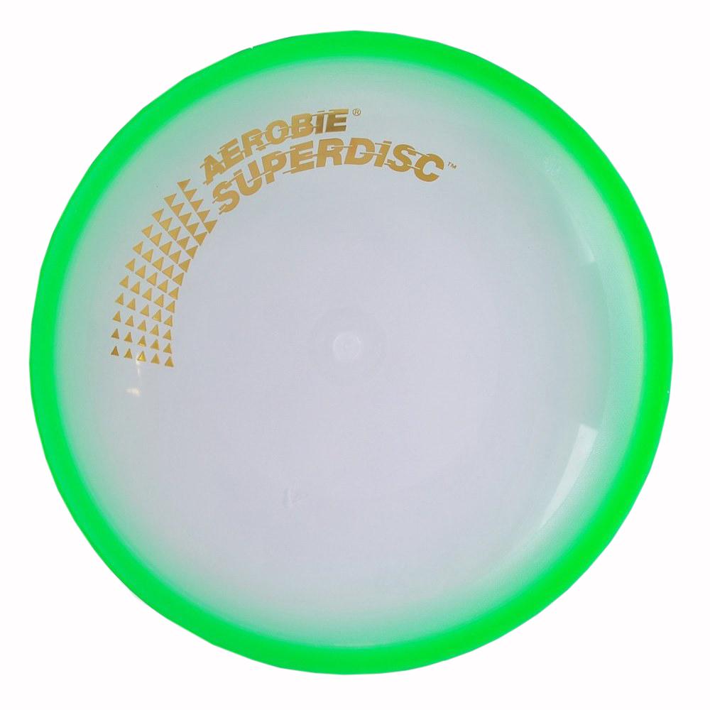 Aerobie Летающий диск Superdisc74Мягкие летающие тарелки выполнены из особого мягкого материала,который приятно кидать и вдвойне приятно ловить.Благодаря этому теперь можно совмещать существенную дальность броска и безопасность ловли при игре.Летающие диски летают до 40 метров в длину, но никогда не оставят следов ушибов на руках.Летающие диски обладают запатентованной формой обода в виде спойлера, которая позволяет им лететь невероятно далеко и ровно. Они не тонут в воде, что делает их незаменимыми при игре на пляже или рядом с водоемами.