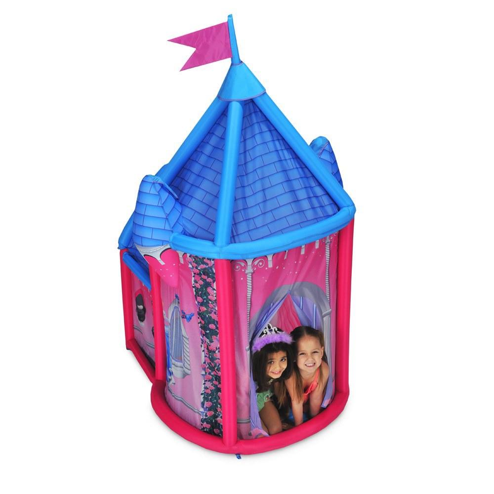 Ninja Игровой набор Надувной Дом Дворец Принцесс5377Каждая девочка мечтает иметь свой собственный замок, чтобы быть самой настоящей принцессой. Осуществить мечту малышки поможет детский игровой домик «Дворец Принцесс», который представляет собой надувную конструкцию, выполненную в форме дворца-палатки. Палатку можно установить дома или на природе. Представляете, если поставить этот замок в лесу? Получится самая настоящая сказка. Домик очень легко надувается ручным насосом, а в собранном виде легко помещается в небольшую сумку-переноску с ручками. Имея маленький вес, она проста в транспортировке. Игровая палатка развивает воображение, фантазию, творческие способности ребенка. Комплектность: надувной домик, размером 150х110х185 см (ДхШхВ), ручной насос, сумка для переноски, инструкция по сборке. Игрушка имеет индивидуальную упаковку, размером 50х10х50 см (ДхШхВ).