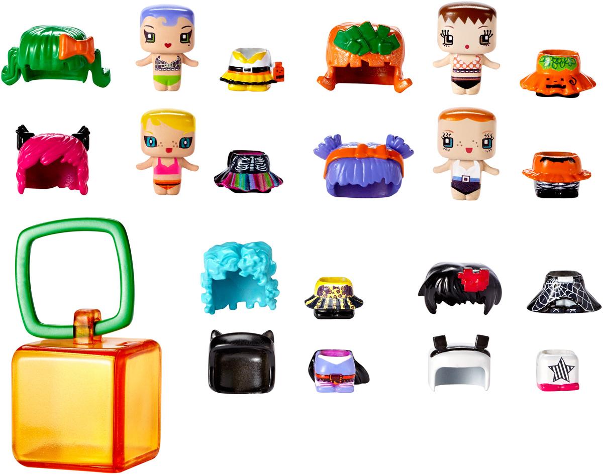 My Mini MixieQs Набор фигурок Костюмированная вечеринкаDXD63_DXD64Набор фигурок с аксессуарами My Mini MixieQs Костюмированная вечеринка непременно приведет в восторг вашу малышку. Самое интересное в этих фигурках то, что разные персонажи могут меняться одеждой и прическами. Невозможно удержаться, чтобы не начать играть с ними сразу, достав из упаковки! Из этого набора можно собрать более 400 различных стильных сочетаний! Дети сами смогут создавать уникальные фигурки Mixiqes! Набор посвящен сказочной теме, эти уникальные наряды можно найти только здесь. В наборе 4 фигурки, 8 причесок, 8 платьев и одна секретная фигурка. Кроме нарядов и причесок в набор входит прозрачный кубик-брелок для переноски любимого персонажа, чтобы девочкам было удобнее брать его с собой! Девочки могут прицепить брелок к рюкзаку или носить на себе, присоединив к украшению на шее.
