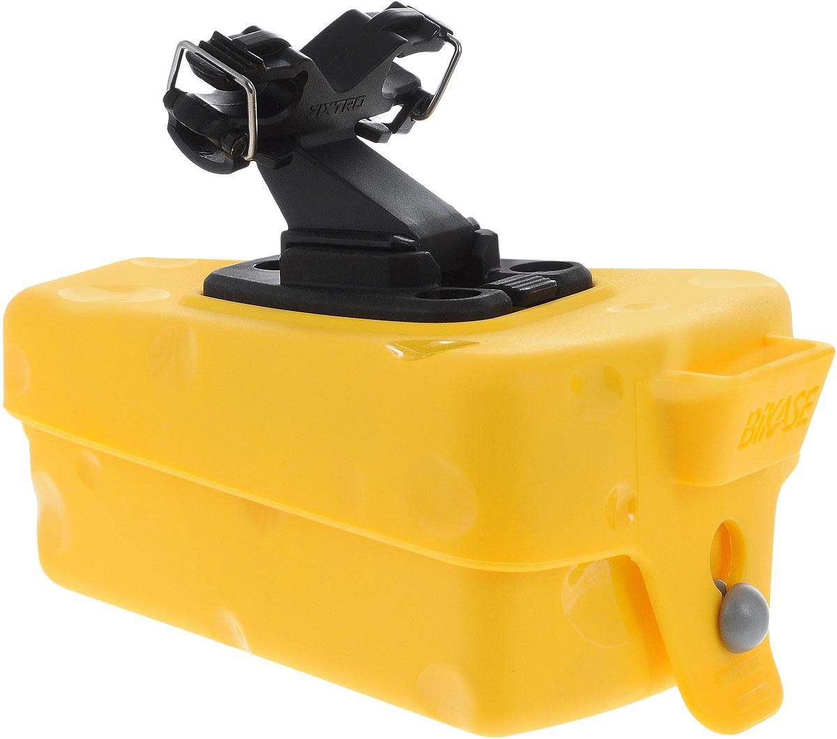 Сумка подседельная BiKase Cheese Wedge, 13 х 9 х 5,5 смAG001Подседельная сумка для велосипеда BiKase Cheese Wedge выполнена из высококачественного полиуретана и имеет форму куска сыра. Закрывается на фиксатор. Изделие легко и быстро устанавливается под седло. Сумка имеет 1 отделение, внутри которого расположен текстильный кармашек.
