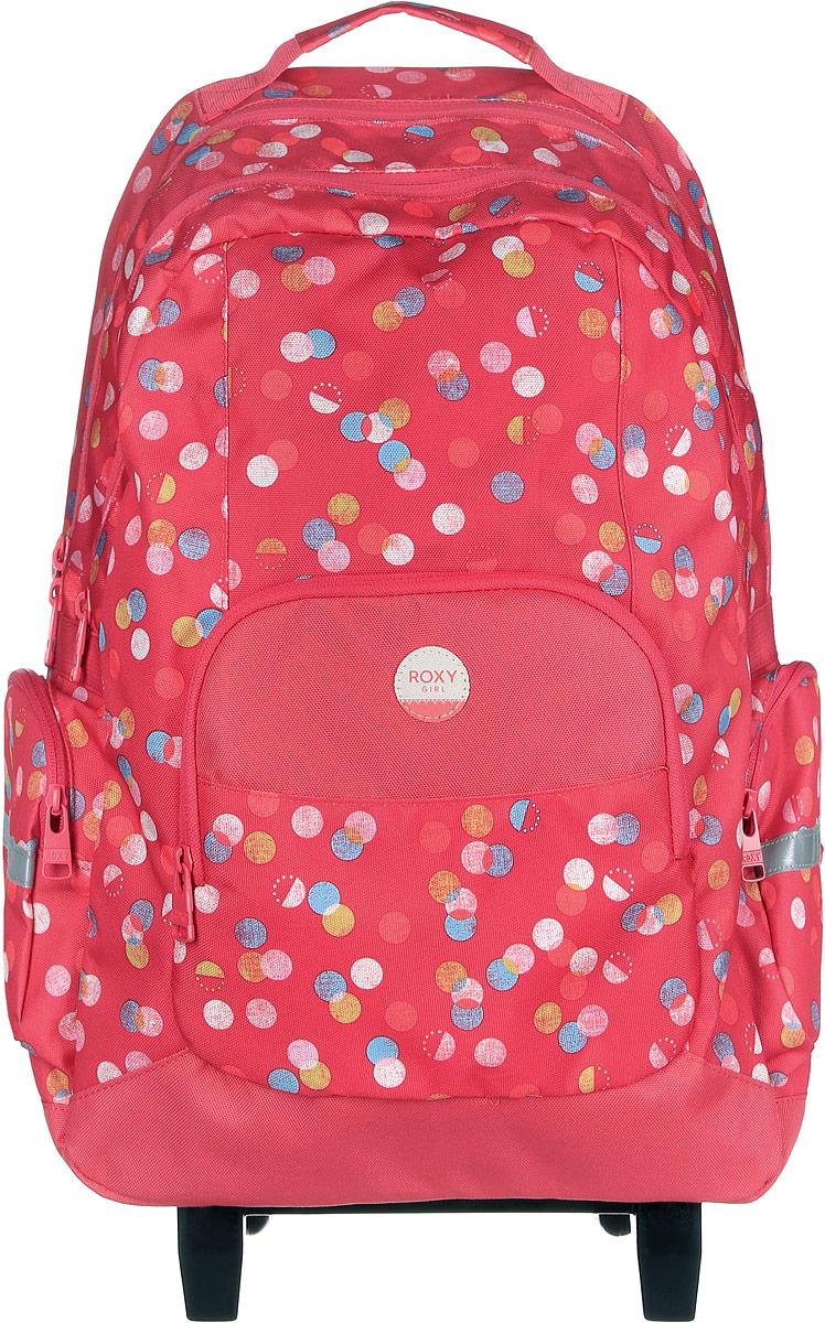 Рюкзак на колесах жен Roxy Free spirit, цвет: красный, Размер 45 x 30 x 15 смERLBP03017-MLR6