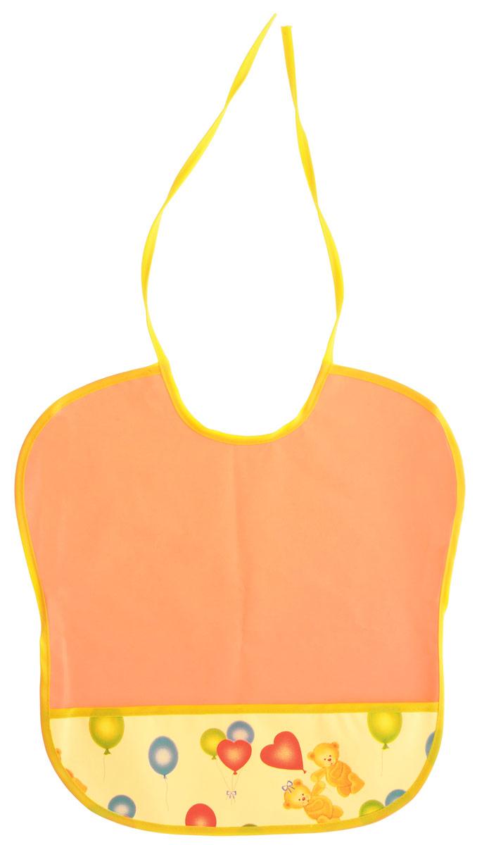 Колорит Нагрудник цвет оранжевый желтый 33 х 33 см