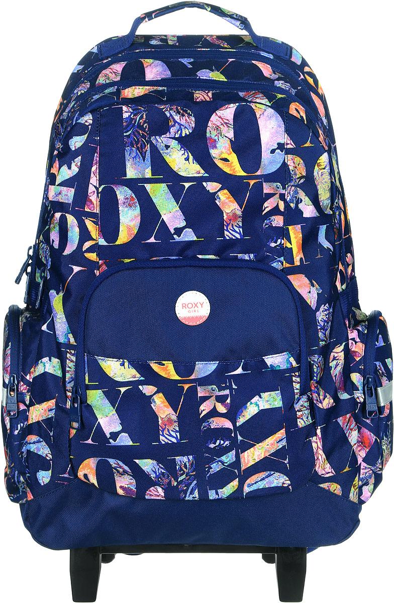 Рюкзак на колесах жен Roxy Free spirit, цвет: синий. Размер 44 x 30 x 15 смERLBP03017-BSQ6