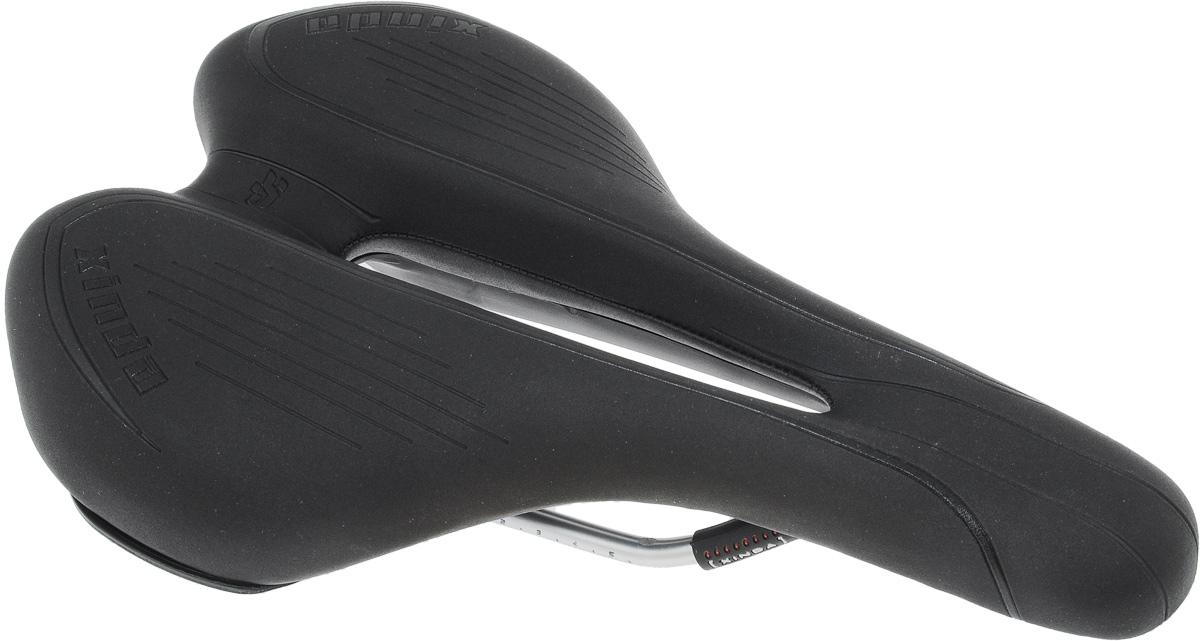 Седло для городского/горного велосипеда Xinda, цвет: черный, 28,3 х 18, 2 см. XD-826XD-826-02B W/CARDСедло для городского/горного велосипеда Xinda обладает повышенным комфортом, большим размером, что уменьшает давление, и отверстием. Специальный наполнитель, выполненный из вспененного полимера, обеспечивает мягкость и сохранение формы седла. Верхняя часть выполнена из текстиля. В комплект входит крепление к штырю велосипеда. Размер седла: 28,3 х 18,2 см.
