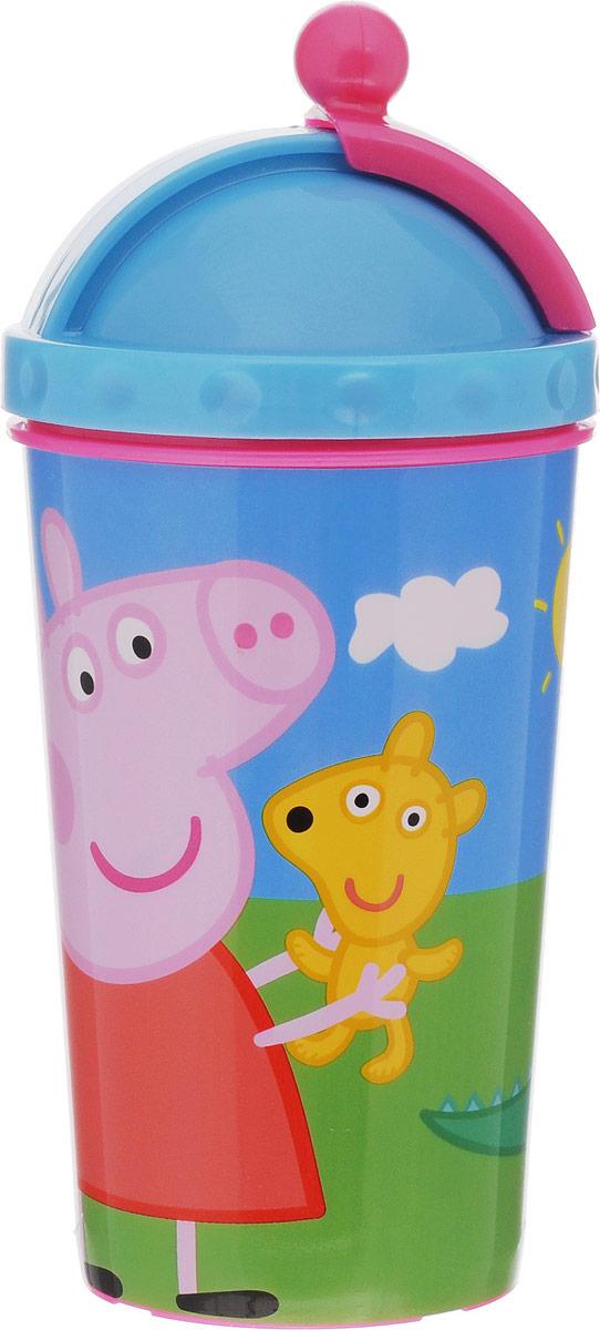 Peppa Pig Бутылочка-поильник Пеппа и Джордж с трубочкой 450 мл