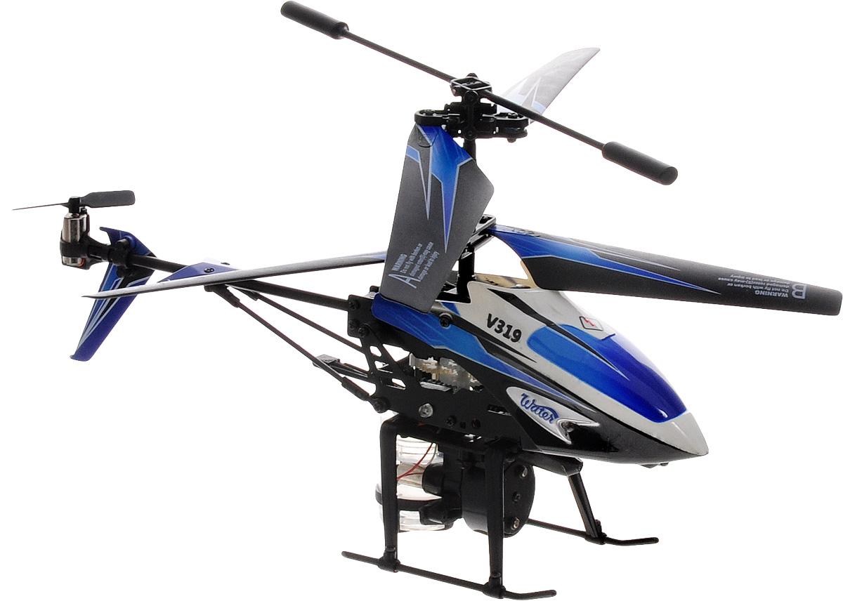 ABtoys Вертолет на инфракрасном управлении WaterC-00105(V319)Вертолет ABtoys Water на инфракрасном управлении со встроенным гироскопом отлично подходит для полетов в закрытых помещениях и на улице в безветренную погоду. Гироскоп предназначен для курсовой стабилизации полета. Игрушка выполнена из прочного пластика с металлическими элементами. Вертолет стабилен в воздухе и легко управляется. Пульт управления позволяет вертолету двигаться вверх-вниз, вперед-назад, влево-вправо, вращаться на 360 градусов и зависать в воздухе. Вертолет имеет 3,5 канала управления. Вертолет обладает световыми эффектами и функцией разбрызгивания воды. Радиус действия пульта управления составляет 9 метров. Эта увлекательная игрушка понравится не только детям, но и взрослым, и подарит вам множество счастливых мгновений. Игрушка великолепно развивает важные навыки, такие как мышление, наблюдательность, зрительно-моторную координацию. Вертолет работает от встроенного аккумулятора. Зарядка аккумулятора может производиться как от пульта управления, так и...