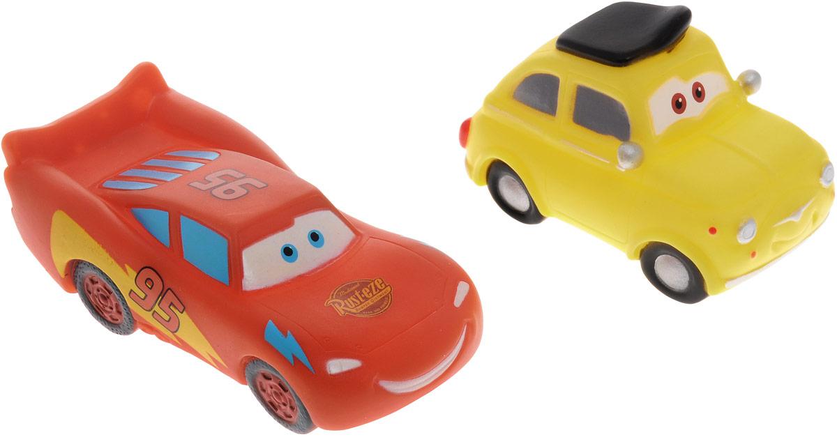Играем вместе Набор игрушек для ванной Тачки цвет оранжевый желтый 2 шт162R-163R-164R-PVCС набором игрушек для ванной Играем вместе Тачки принимать водные процедуры станет еще веселее и приятнее. В набор входят две машинки, герои мультфильма Тачки. При надавливании игрушки издают веселый писк. Набор доставит ребенку много радости и поможет преодолеть страх перед купанием. Игрушки для ванной способствуют развитию воображения, цветового восприятия, тактильных ощущений и мелкой моторики рук.