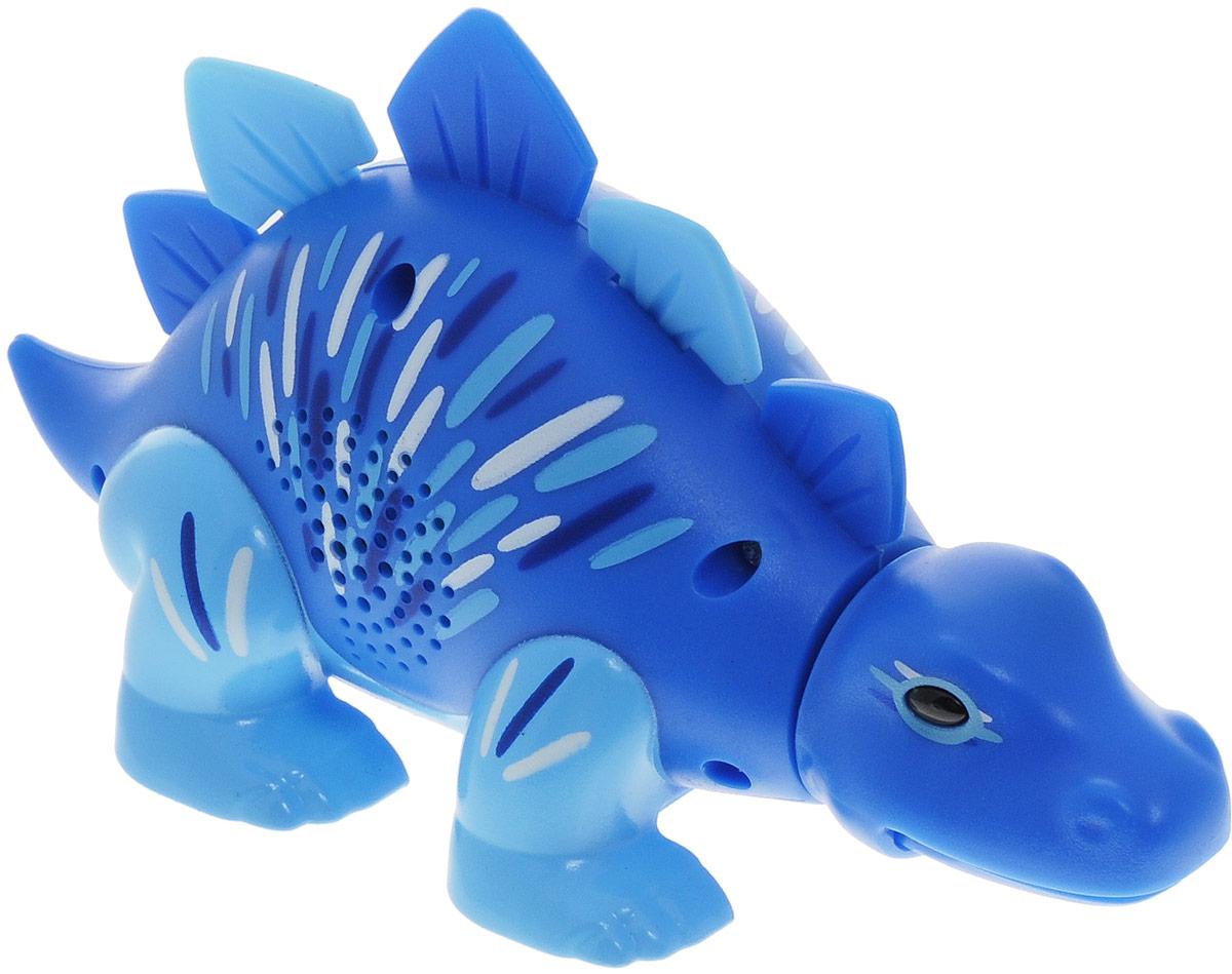 DigiFriends Интерактивная игрушка Динозавр цвет синий88281_синийУ вас есть шанс получить уникального домашнего питомца - поющего динозавра. Не каждый может похвастаться этим. Интерактивная игрушка DigiFriends Динозавр - это умное животное, которое будет развлекать вас различными мелодиями, пением и ревом. Для активизации динозавра необходимо посвистеть или похлопать в ладоши. Игрушка издает 55 вариантов песен и рев динозавра, также динозавр повторяет то, что вы сказали. Такая игрушка станет незабываемым подарком для любого ребенка. Малыш будет увлеченно играть с динозавром, прослушивая различные мелодии. Для работы игрушки необходимы 3 батарейки типа LR44 напряжением 1,5V (товар комплектуется демонстрационными).