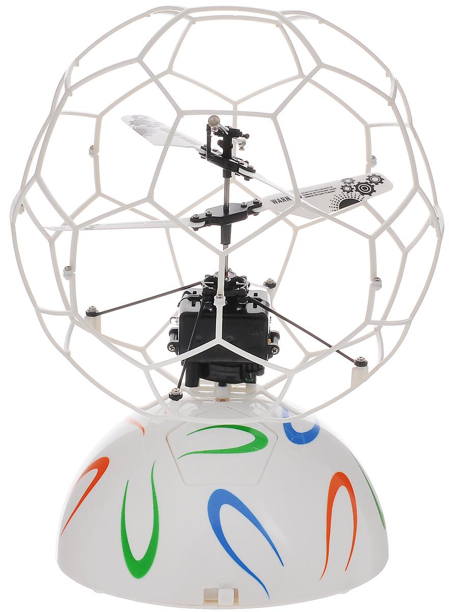 ABtoys Летучий шар на радиоуправлении цвет белыйC-00145(777-337)Летучий шар на радиоуправлении ABtoys - это винтокрылый летательный аппарат, лопасти которого защищены сеточной сферой. Он автоматически взлетает, зависает в воздухе и набирает высоту, если обнаруживает препятствие на своем пути. Игрушка выполнена из прочного пластика с металлическими элементами. Двойной пропеллер обеспечивает стабильные полеты. Время зарядки шара составляет 30 минут, время в полете - 5 минут. Радиус действия составляет 10 метров. Эта увлекательная игрушка понравится не только детям, но и взрослым, и подарит вам множество счастливых мгновений. Игрушка великолепно развивает важные навыки, такие как мышление, наблюдательность, зрительно-моторную координацию. Летучий шар работает от встроенного аккумулятора. Зарядка происходит от платформы или компьютера при помощи USB кабеля (входит в комплект). Платформа работает от 6 батареек типа AA (не входят в комплект).