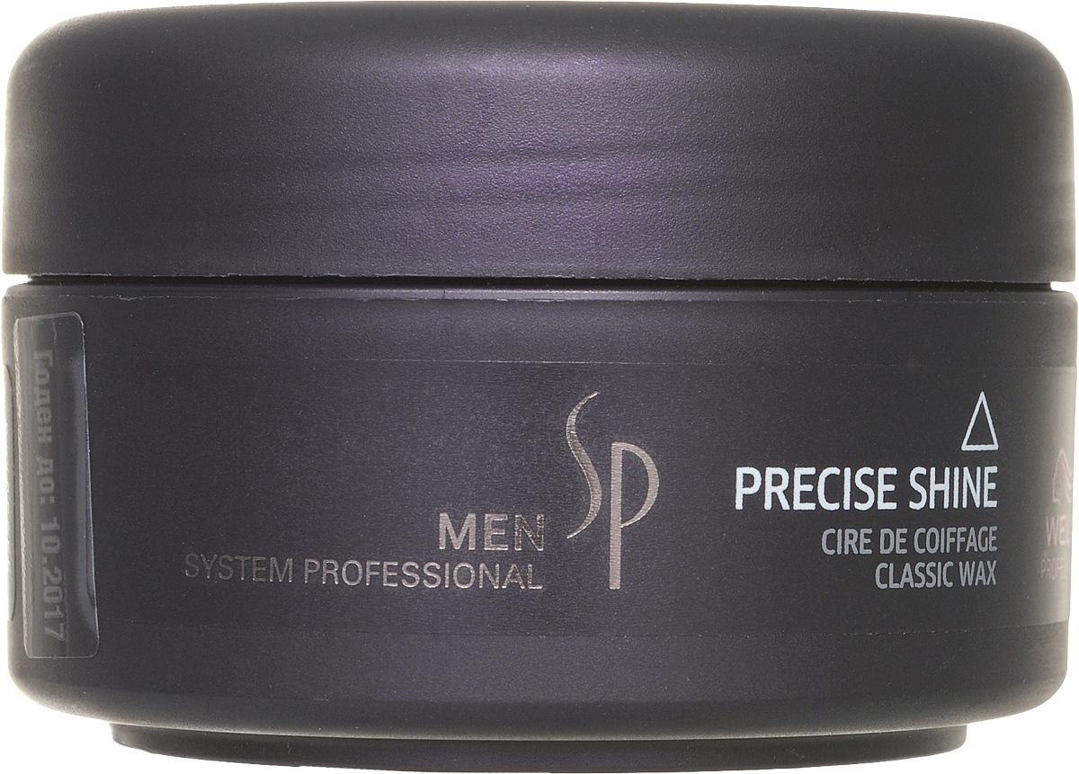 Wella SP Воск для укладки и блеска Men Precise Waх, 75 мл81311305Воск для укладки и блеска Precise Wax прост в использовании, а его действие продлится на весь день. Воск наносится на сухие волосы, очень экономичен, поскольку имеет густую консистенцию, обеспечивает качественный уход за волосами и устойчивый стайлинг для мужчин. Придает волосам гибкость, блеск, пластичность, прекрасно моделирует волосы, помогая создавать любой стиль укладки. Петролатум – масленый компонент, который улучшает текстуру, облегчает расчесываемость волос, усиливает их упругость и придает им блеск. PEG-12 – жидкий восковый компонент, который придает гибкость волосам.